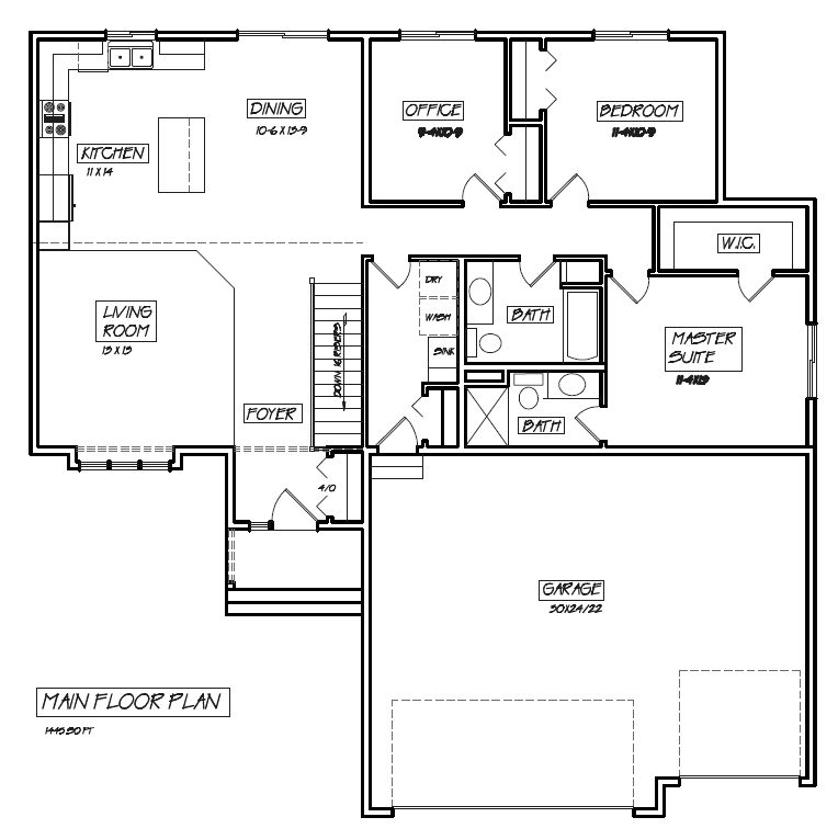 Rambler floor plans with basement for House plans rambler